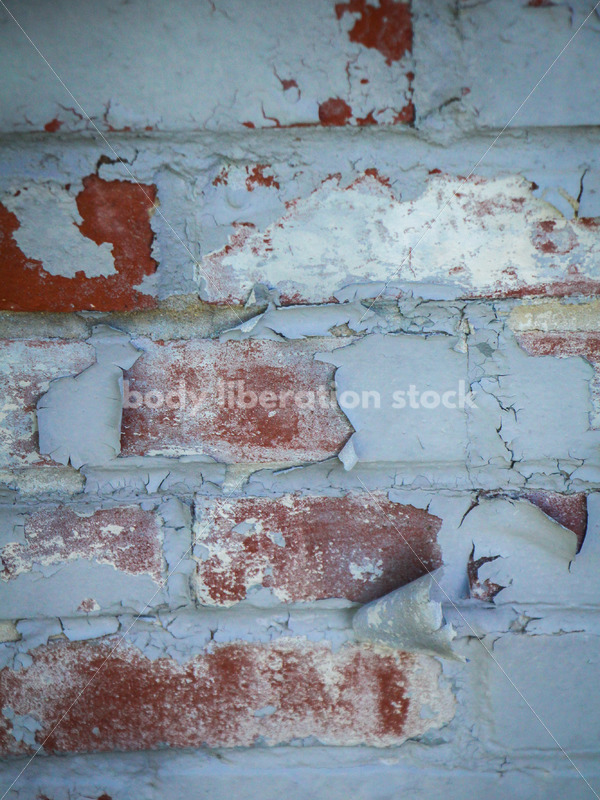 Abstract Background Stock Photo: Brick Wall with Peeling Paint - Body Liberation Photos