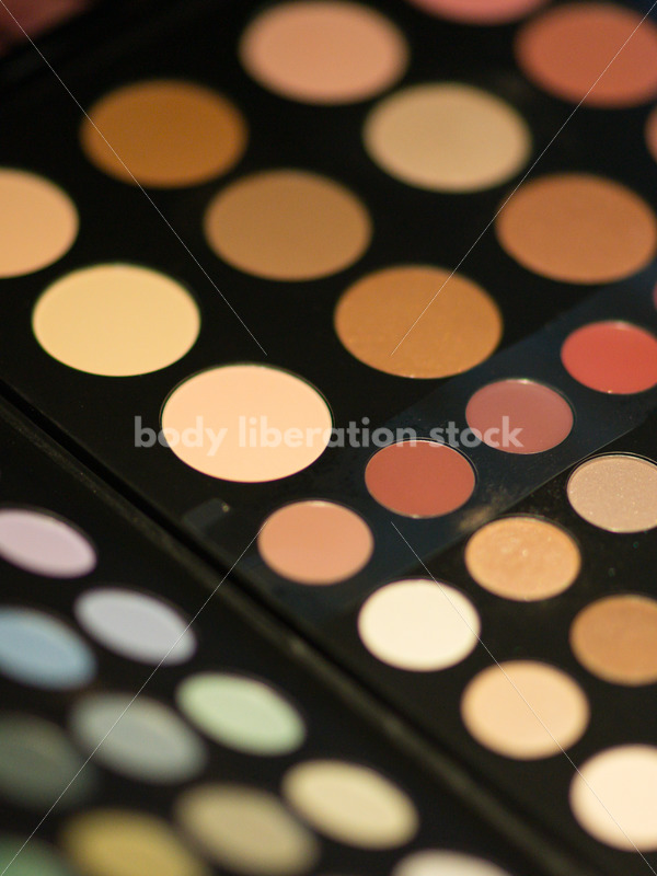 Beauty Stock Image: Makeup Palette Close-up - Body Liberation Photos