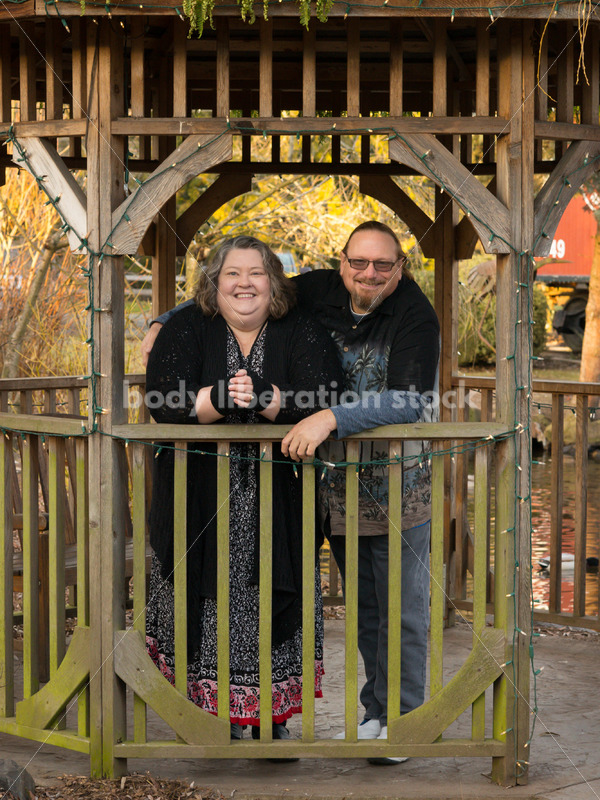 Body Positive Stock Photo: Plus Size Older Couple Portrait - Body Liberation Photos