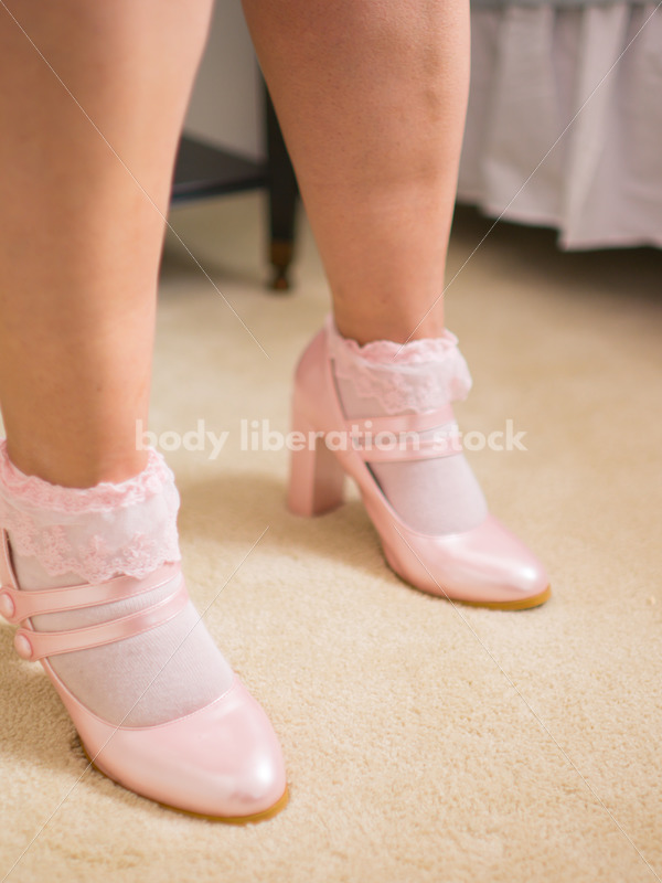 Cosplay Stock Photo: Plus Size Lolita in Pink Shoes - Body Liberation Photos