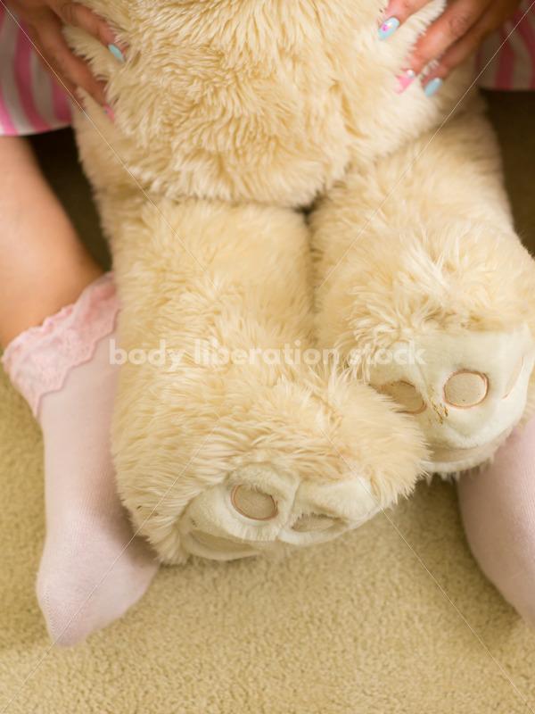 Cosplay Stock Photo: Plus Size Lolita with Teddy Bear - Body Liberation Photos