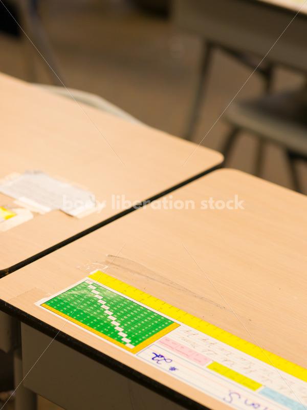 Education Stock Image: Classroom Desks - Body Liberation Photos