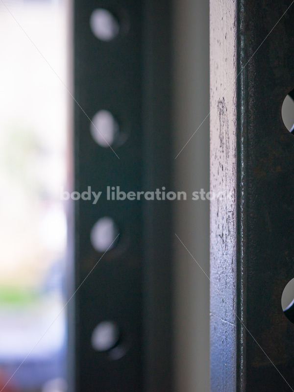 HAES Stock Photo: Weightlifting Rack in Gym - Body Liberation Photos