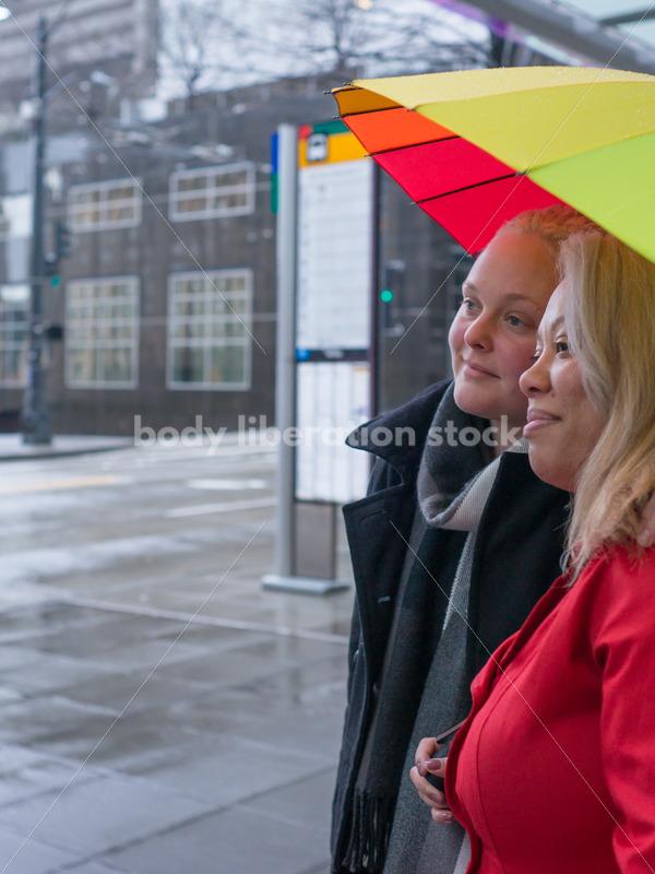 Human Rights & LGBT Stock Photo: Lesbian Couple on City Street - Body Liberation Photos