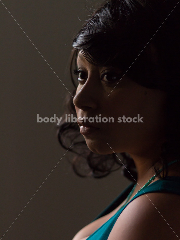 Plus Size Stock Photo: Young African American Woman Portrait - Body Liberation Photos