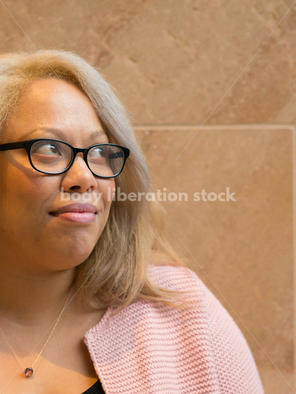 Royalty-Free Stock Image: Black LGBT Woman with Sarcastic Expression - Body Liberation Photos