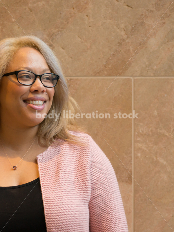 Royalty-Free Stock Image: Black LGBT Woman with Smiling Expression - Body Liberation Photos