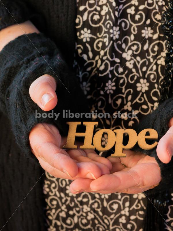 Royalty Free Stock Photo: Holding Hope - Body Liberation Photos