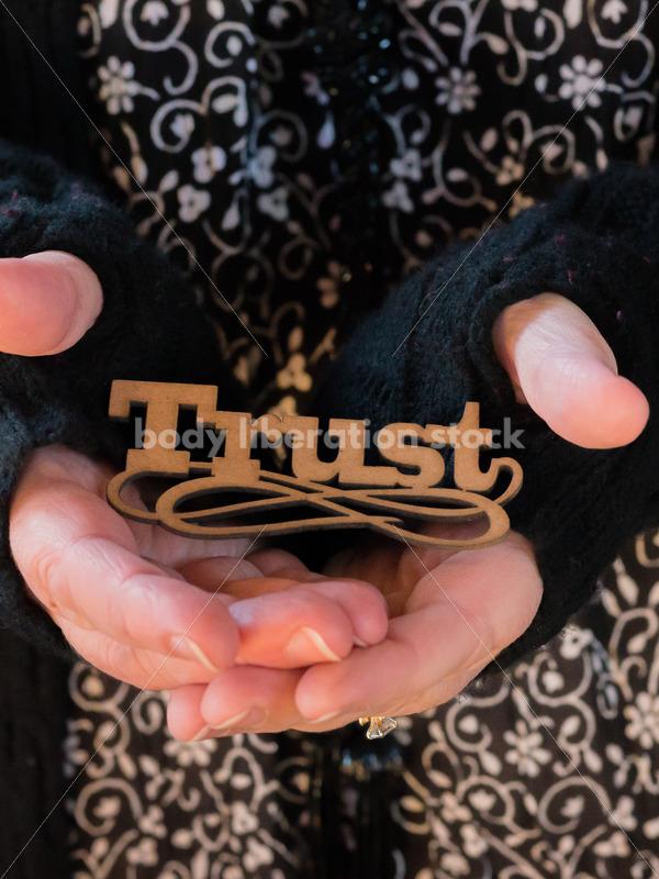 Royalty Free Stock Photo: Holding Trust - Body Liberation Photos