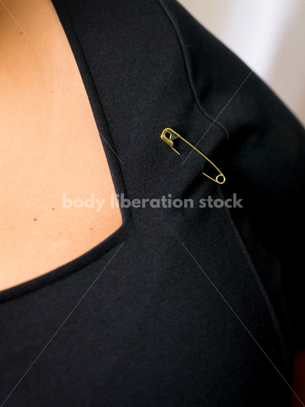 Royalty Free Stock Photo: Safety Pins = Safe Person - Body Liberation Photos