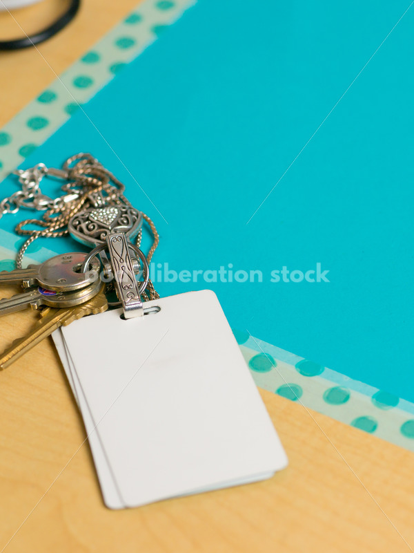 Security Stock Photo: Teacher's Badge and Keys on Lanyard - Body Liberation Photos