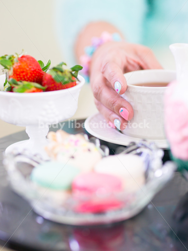Self Care Stock Photo: Afternoon Tea and Sweets - Body Liberation Photos