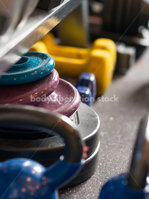 Stock Photo: Hand Weights Used by Plus Size Fitness Trainer - Body Liberation Photos