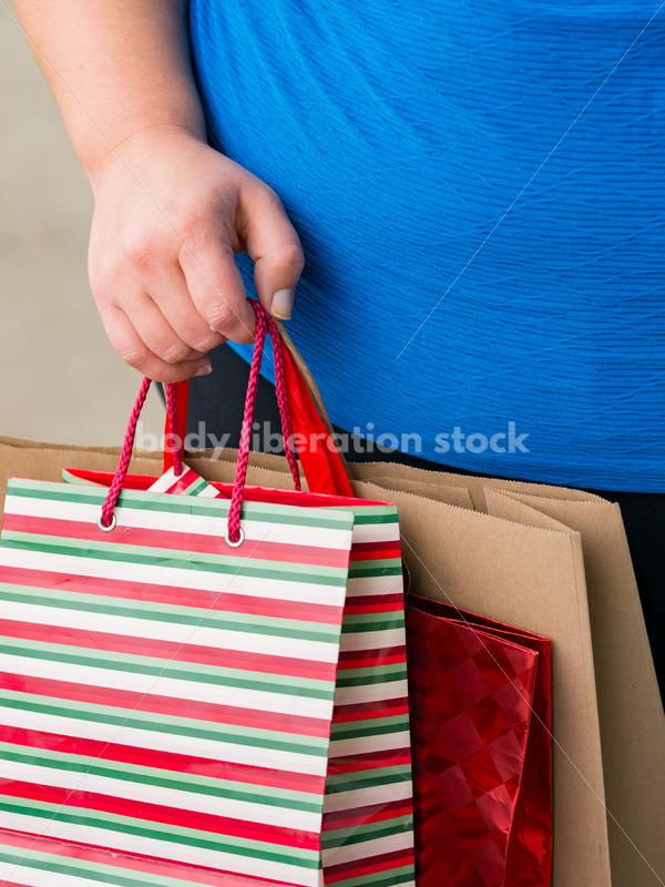Stock Photo: Plus Size Woman Goes Christmas Shopping - Body Liberation Photos