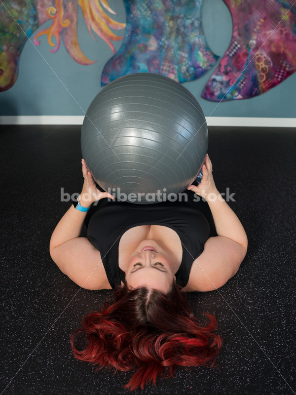 Stock Photo: Plus Size Woman HAES Body Positive Fitness Instructor - Body Liberation Photos