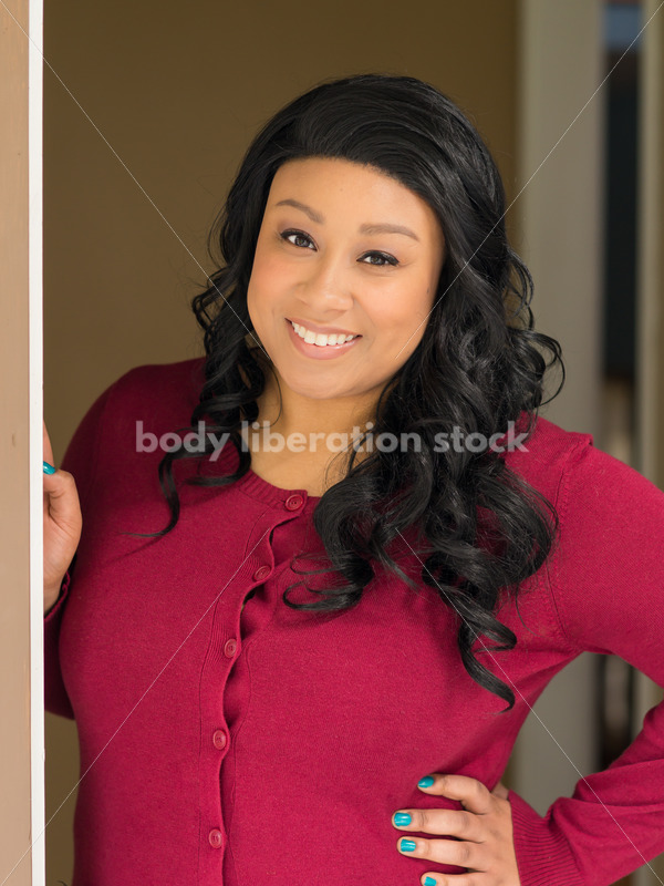 Stock Photo: Young African American Woman in Doorway - Body Liberation Photos