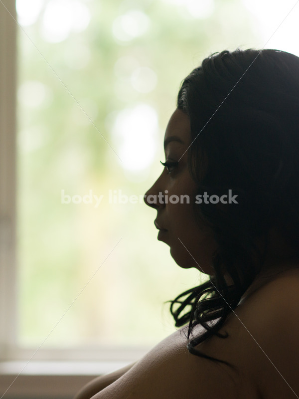 Stock Photo: Young Plus Size African American Woman Close-Up - Body Liberation Photos