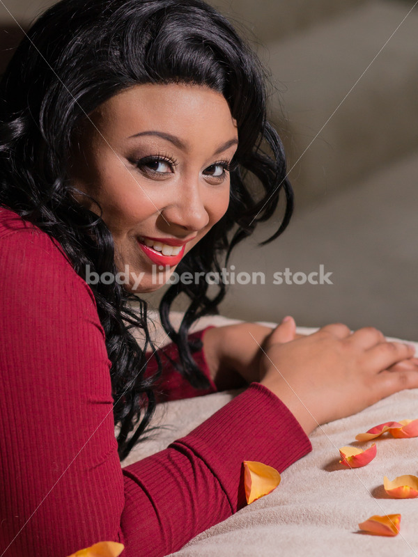 Stock Photo: Young Plus Size Woman Valentine's Day Romantic Holiday - Body Liberation Photos