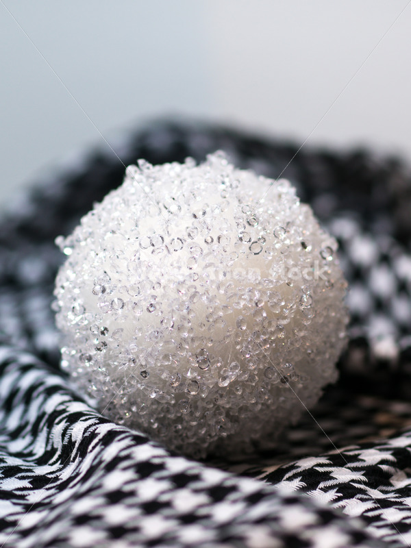 Winter Stock Image: Snowball on Houndstooth Scarf - Body Liberation Photos