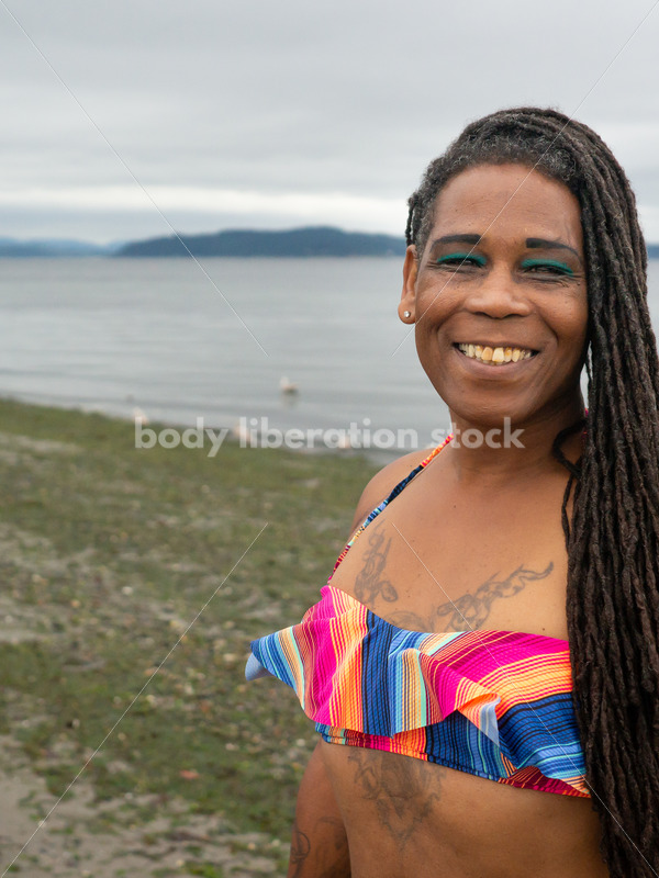 Adventure Stock Photo: Woman on Beach - Body Liberation Photos