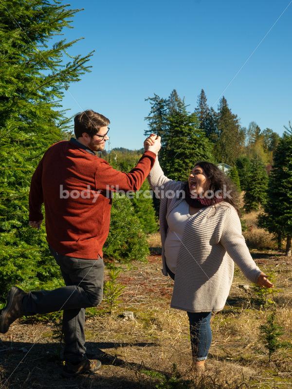 Autumn Stock Photo: High-Five on Tree Farm - Body Liberation Photos