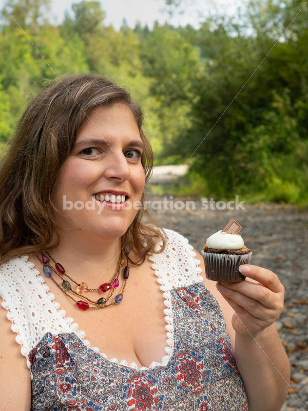 Diet and Eating Disorder Recovery Stock Photo: Eat the Cupcake - Body Liberation Photos