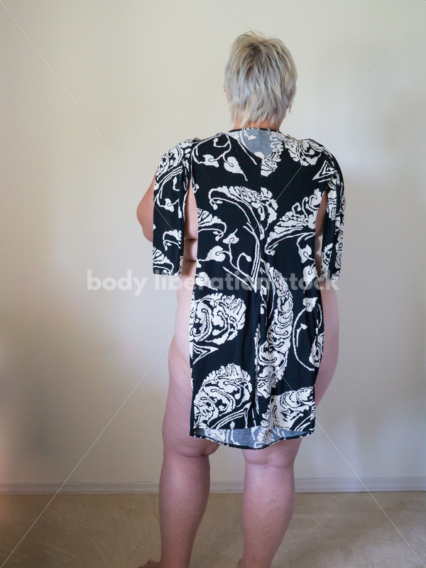 Eating Disorder Recovery Body Image Stock Photo: Back View of Recovering Woman - Body Liberation Photos