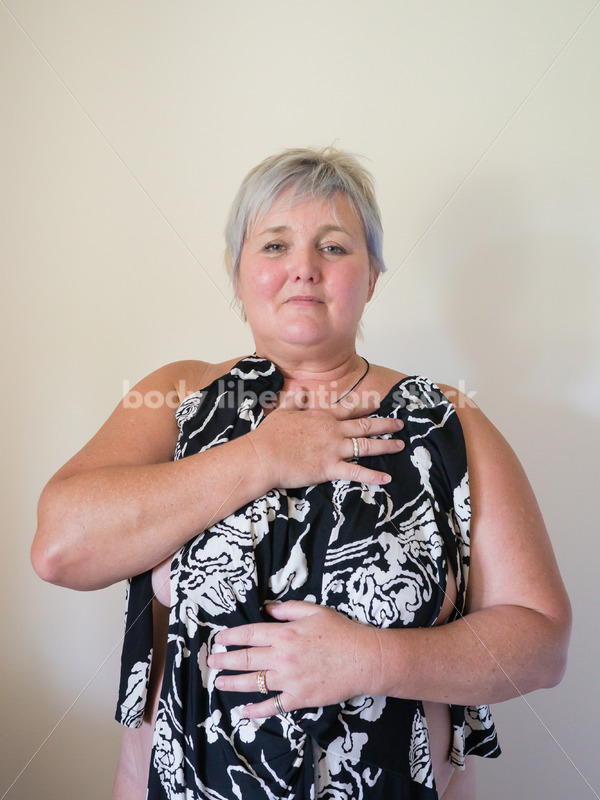 Eating Disorder Recovery Body Image Stock Photo: Front View of Recovering Woman - Body Liberation Photos
