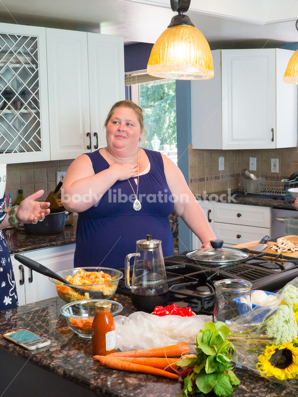 Eating Disorder Recovery Stock Photo: Women Preparing Food in Kitchen - Body Liberation Photos