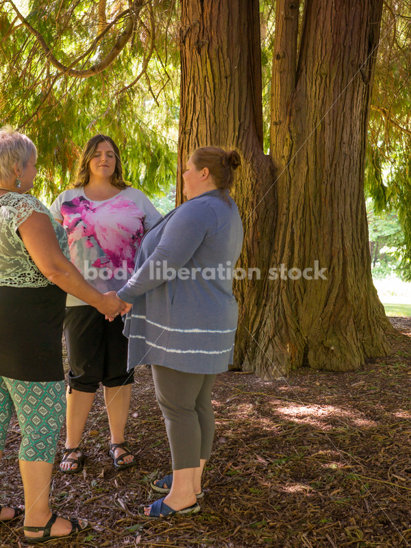 Eating Disorder Recovery Stock Photo: Women's Support Group - Body Liberation Photos