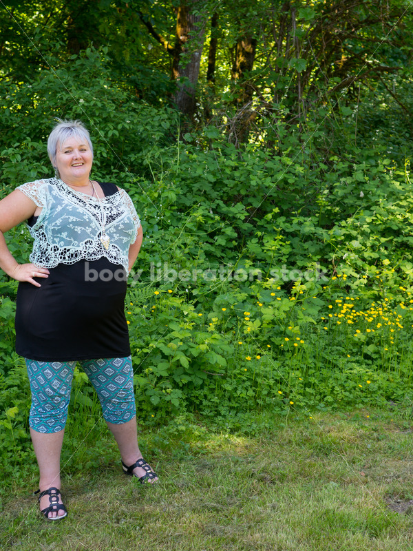 Health at Every Size Stock Photo: Confident Woman Recovering from Eating Disorder - Body Liberation Photos