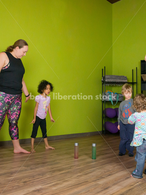 Health at Every Size Stock Photo: Family Yoga Class - Body Liberation Photos