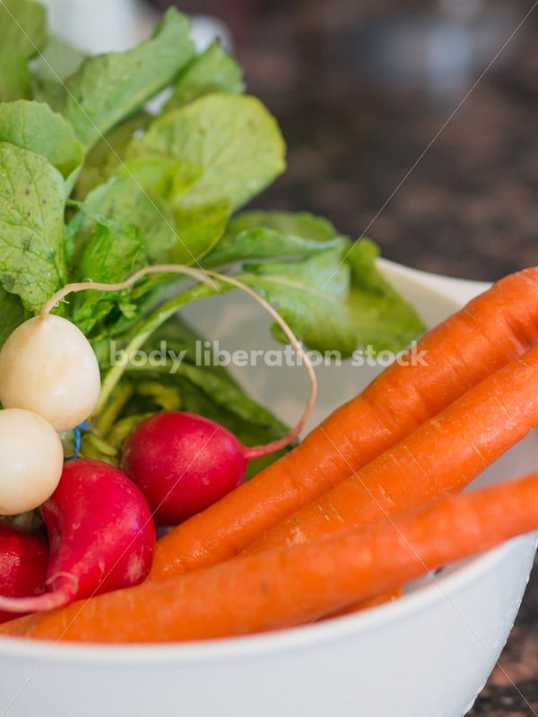 Intuitive Eating Stock Image: Kitchen Counter with a Variety of Food - Body Liberation Photos