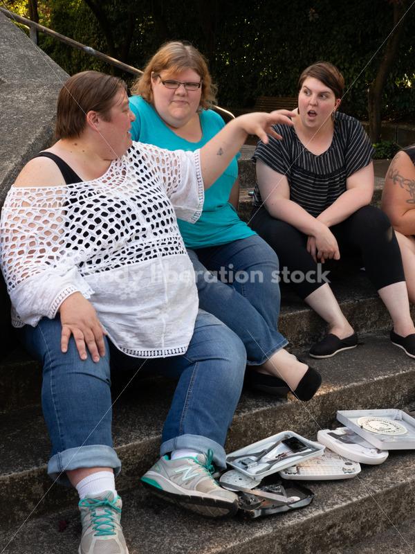 Non-Diet Stock Image: Scale Smashing - Body Liberation Photos