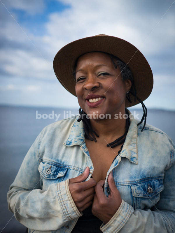 Plus-Size African American Woman Outdoors - Body Liberation Photos