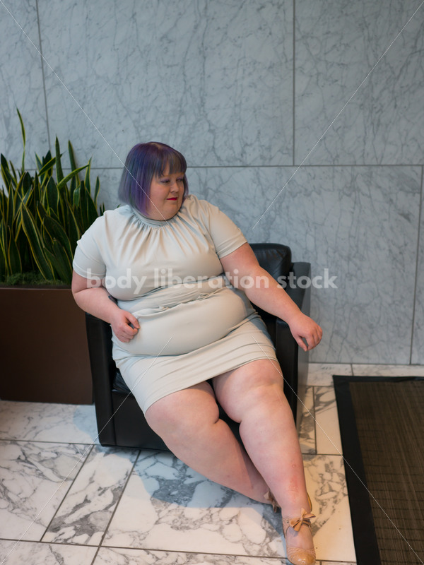 Plus-Size Businesswoman in Office Building - Body Liberation Photos