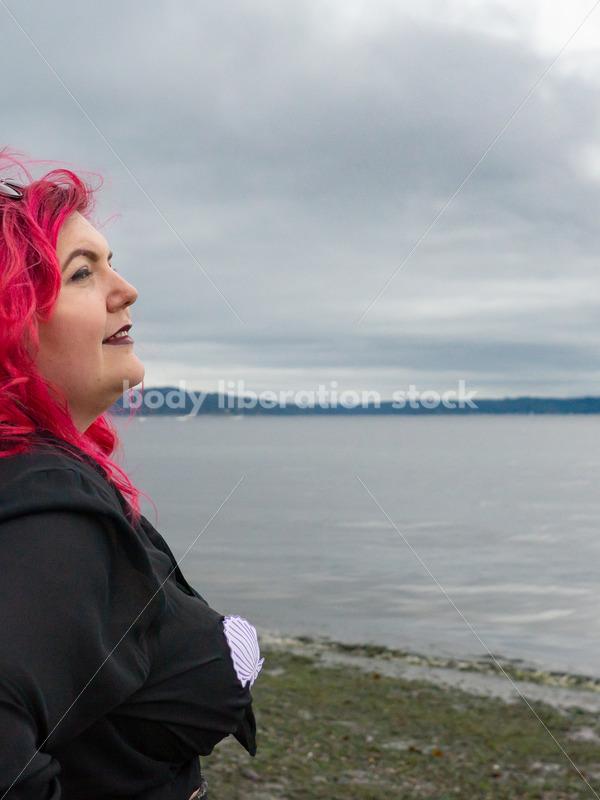 Plus-Size Stock Photo: Woman on Beach - Body Liberation Photos