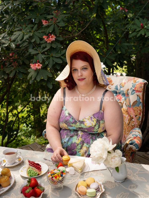 Plus-Size Woman at Tea Party - Body Liberation Photos