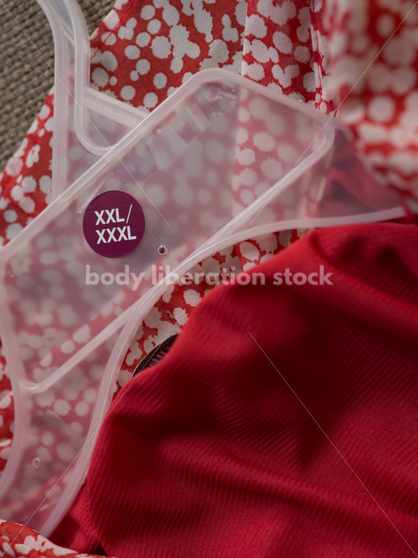 Plus size blouse and hanger on chair - Body Liberation Photos