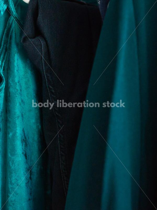 Plus size clothing on rack - Body Liberation Photos