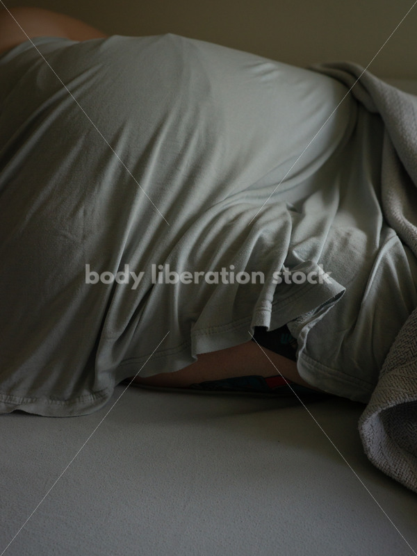 Self Care Stock Photo: Plus-Size Woman Resting, Sleeping or Napping - Body Liberation Photos