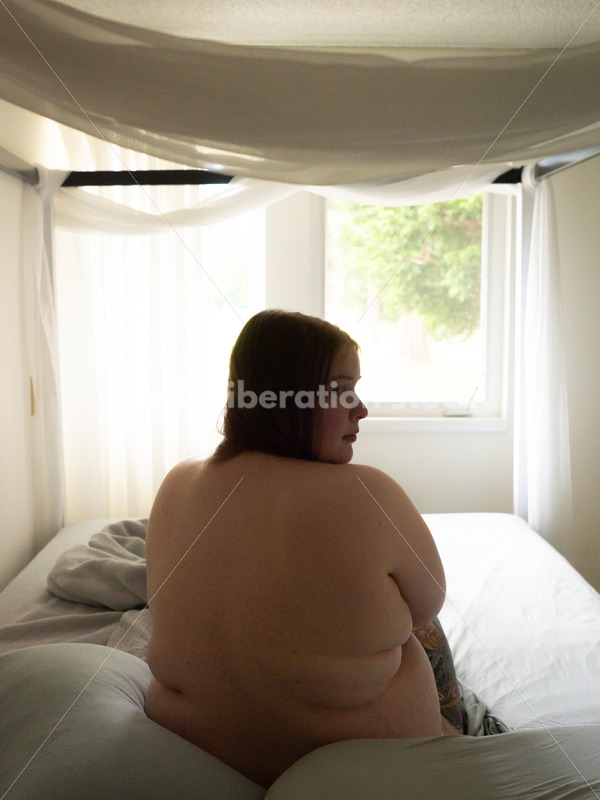 Self Care Stock Photo: Plus-Size Woman Resting in Bed - Body Liberation Photos