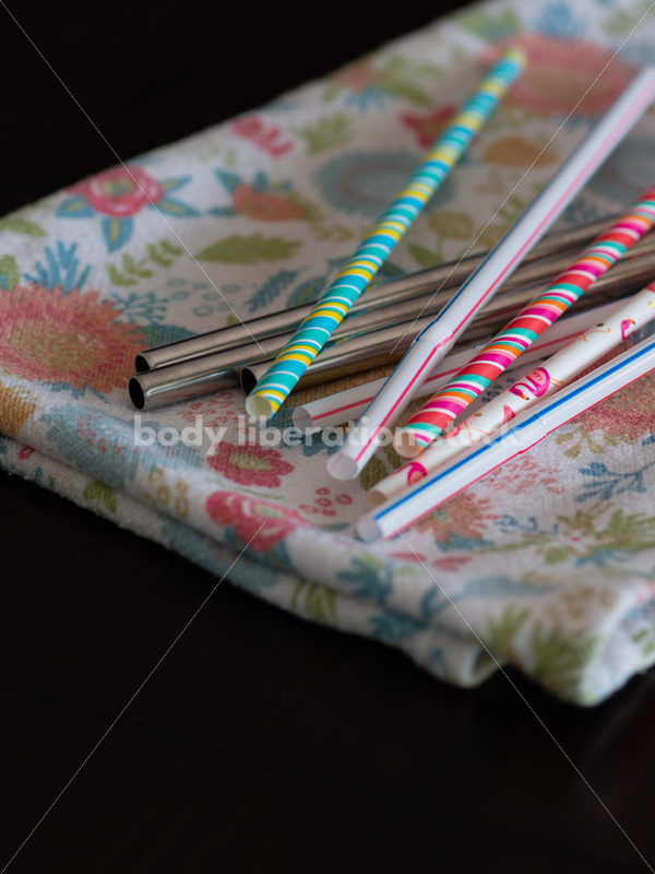 Stock Image: Single-Use Plastics – Plastic Straws, Papers Straws and Metal Straws - Body Liberation Photos