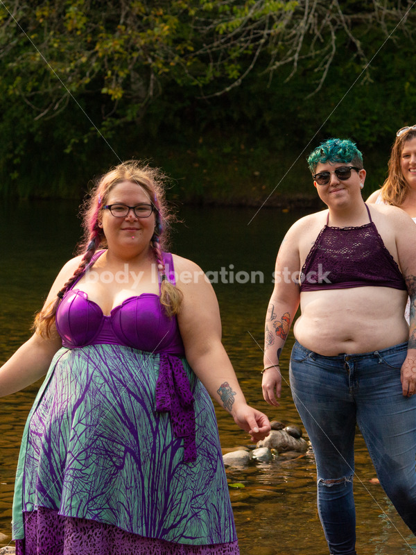 Summer Fun & Community Stock Photo: People Wading in River - Body Liberation Photos