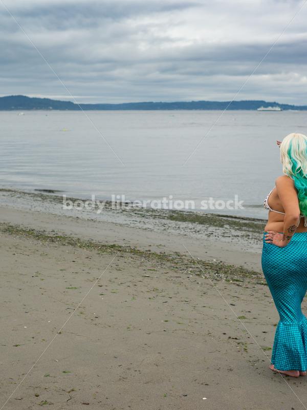 Travel Stock Photo: Mermaid on Beach - Body Liberation Photos