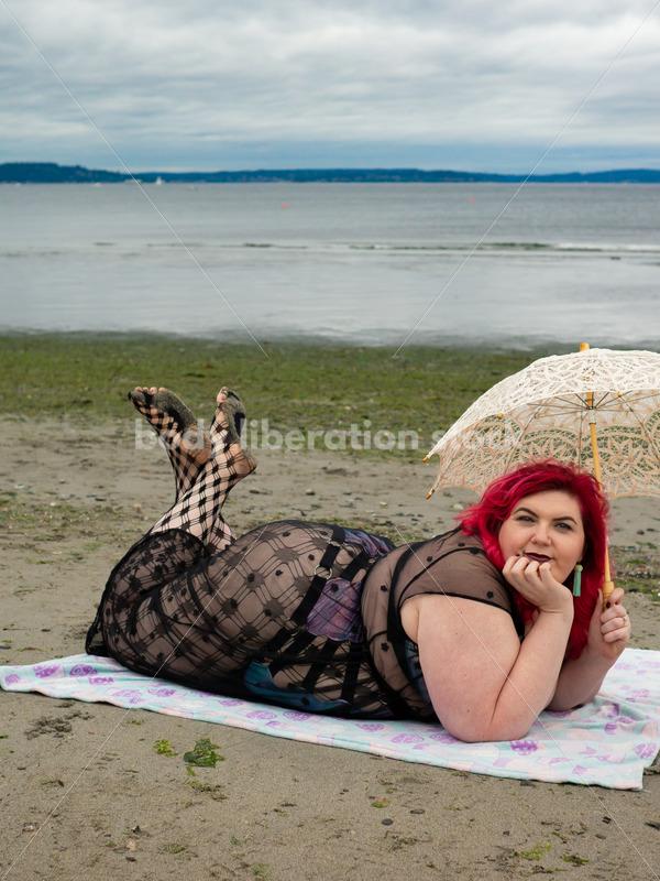 Vacation Stock Photo: Woman on Beach - Body Liberation Photos