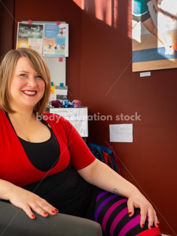 Body Positive Stock Photo: Plus-Size Yoga Teacher - Body Liberation Photos