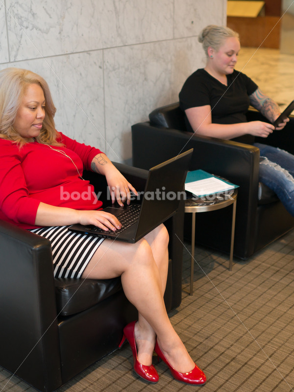 Diverse Business Stock Image: LGBT Women Work and Collaborate in Office Building - Body Liberation Photos