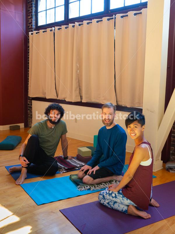 Diverse Yoga Stock Photo: Class Interaction - Body Liberation Photos