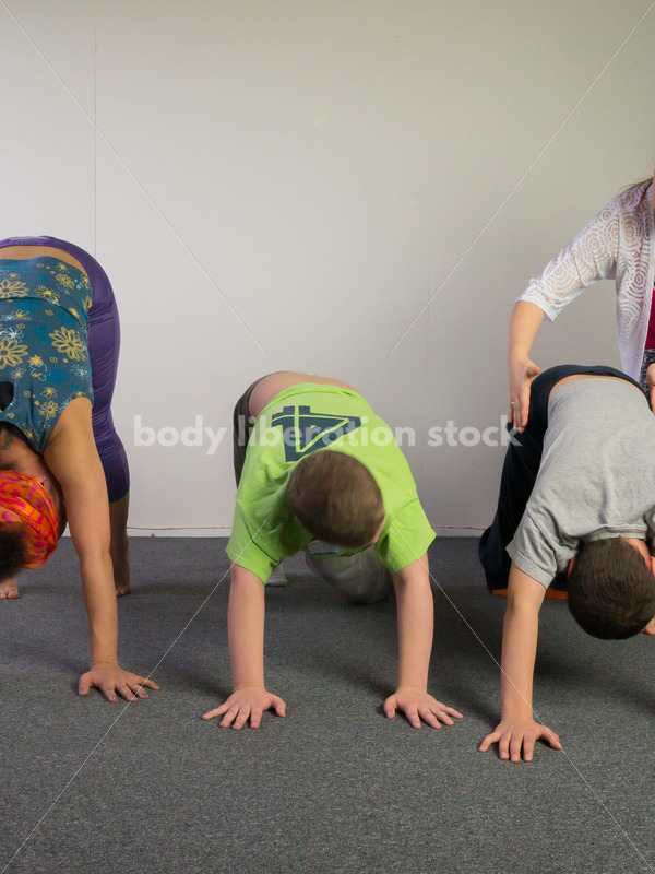 Diverse Yoga Stock Photo: Family Yoga - Body Liberation Photos